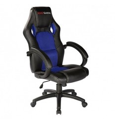 SILLA GAMER MARS GAMING MGC1BBL COLOR NEGRO/AZUL - Nylon reclinable - Base PVC 5 patas - 60 x 75 x 110-120cm / 14,5 Kg