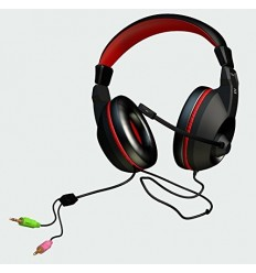 AURICULARES MARS GAMING MAH0 JACK 3.5mm MICROFONO ABATIBLE 40MM
